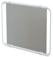 miroir orientable multidirectionnel - cadre aluminium blanc
