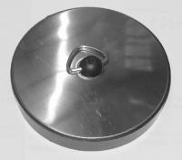 bouchon avec plaque inox Ø 55 à 58 mm - sous blister...