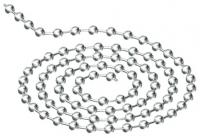 chaînette 60 cm - perlée - laiton nickelé - sous blister...