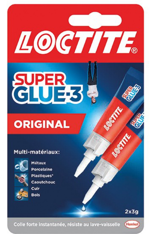 colle super glue 3 liquide multi supports 2 flacons de 3 g. Black Bedroom Furniture Sets. Home Design Ideas