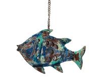 photophore poisson bleu 20x6x14
