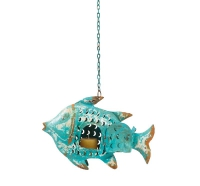 photophore poisson bleu 32x9x21.5