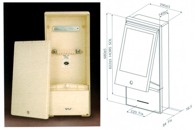 borne pavillonnaire nf france t l com hxlxp 680x295x104 coloris beige. Black Bedroom Furniture Sets. Home Design Ideas