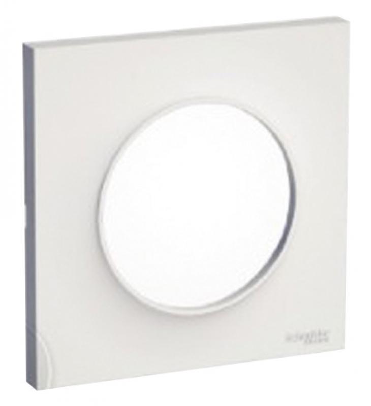 plaque odace styl 1 poste coloris blanc brillant. Black Bedroom Furniture Sets. Home Design Ideas