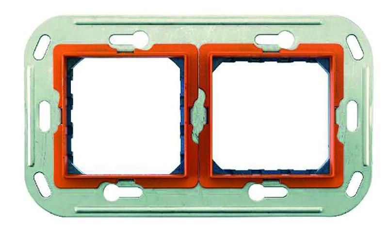 support vis pour 2x2 mod montage sur bo te double. Black Bedroom Furniture Sets. Home Design Ideas