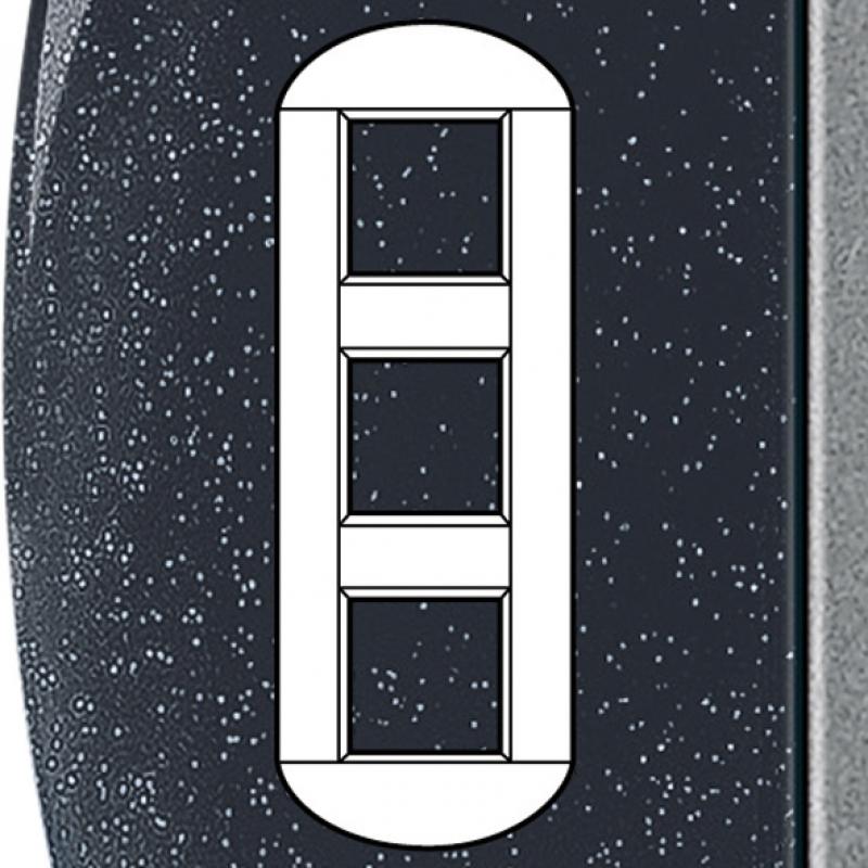 plaque ronde neutre 3x2 mod entraxe 71 mm col anthracite. Black Bedroom Furniture Sets. Home Design Ideas