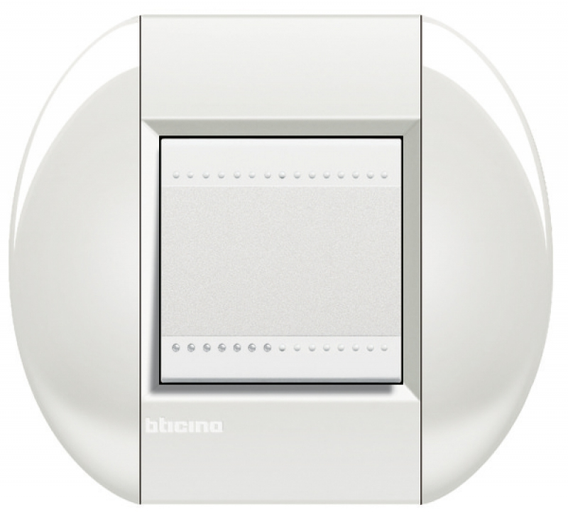 plaque ronde neutre 2 modules col blanc. Black Bedroom Furniture Sets. Home Design Ideas
