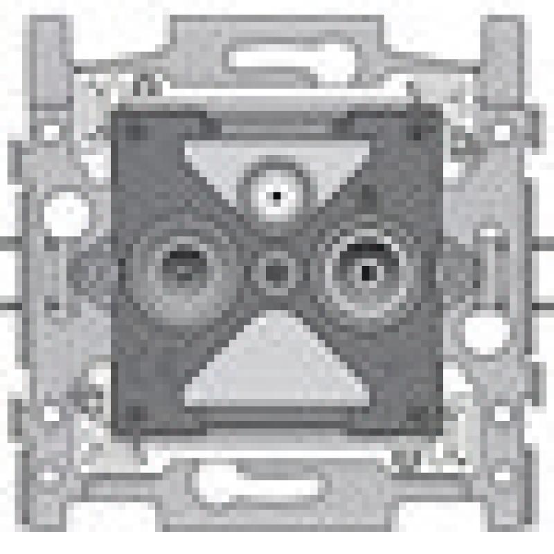 socle 2 prises coax pour instal individ satel. Black Bedroom Furniture Sets. Home Design Ideas