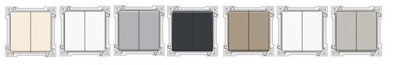 enjoliveur pour interrupteur double va et vient finition. Black Bedroom Furniture Sets. Home Design Ideas
