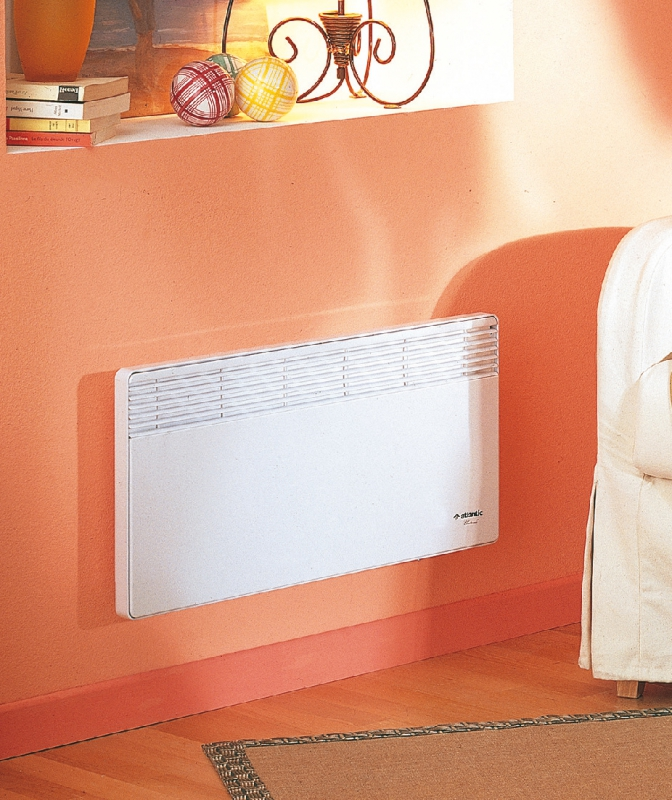 convecteur f 18 lectronique therm num rique hxlxp 340x590x78 blanc 750 w. Black Bedroom Furniture Sets. Home Design Ideas
