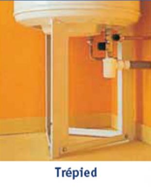 tr pied pour chauffe eau verticaux de 100 200 l h 450 mm. Black Bedroom Furniture Sets. Home Design Ideas