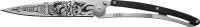couteau 37G Deejo Tatoo Biker - ultra léger - lame acier re...