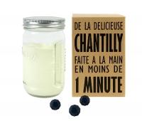 bocal verre à chantilly Creazy + 3 billes «magiques» pour...