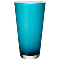 vase verso Caribbean Sea - Ø 17 cm H 38 cm – verre fait m...