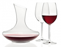 set de 2 verres à vin rouge et carafe assortie Trio, techno...