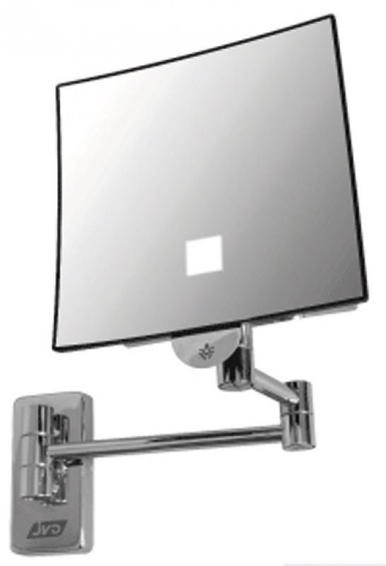 miroir grossissant lumineux et autonome clairage led fonct pile au lithium 3 6v. Black Bedroom Furniture Sets. Home Design Ideas
