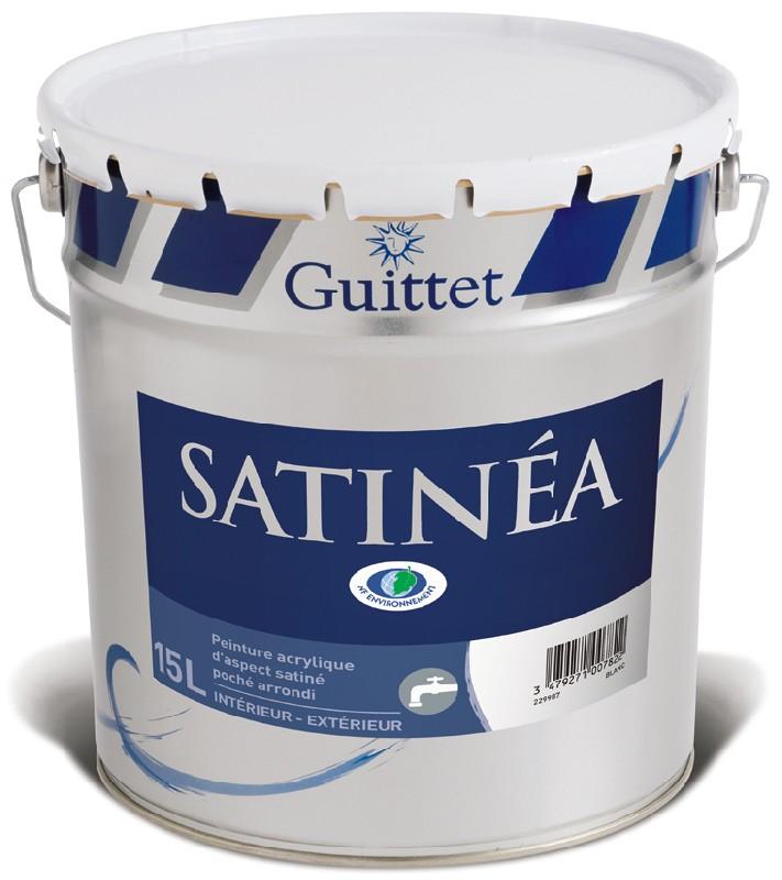 Satinea peinture acrylique satin e int rieur col - Peinture satinee blanc ...