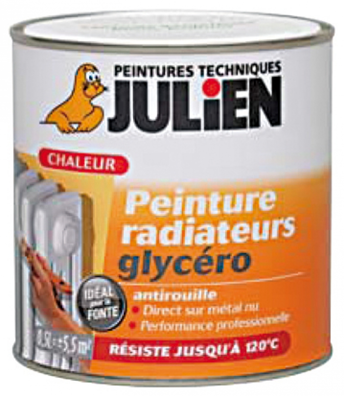 Peinture radiateur glyc ro r siste 120 blanc satin for Peinture julien radiateur