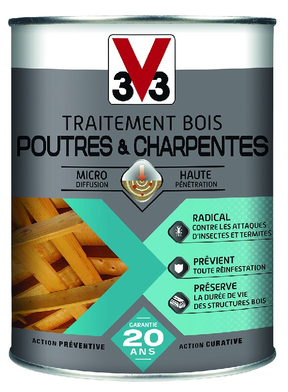 traitement poutres charpentes micro mulsion insecticide et fongicide 1 l. Black Bedroom Furniture Sets. Home Design Ideas