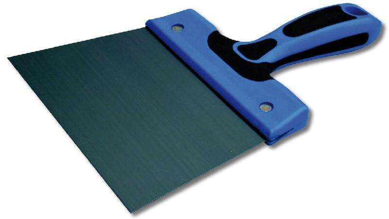 couteau enduit bi mati re acier lame acier tremp verni 20 cm. Black Bedroom Furniture Sets. Home Design Ideas