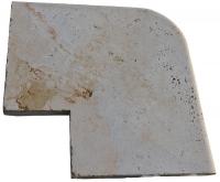 angle sortant RUSTIC - marbre travertin