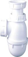 siphon lavabo polypropylène blanc - haut. régl. - culot d�...