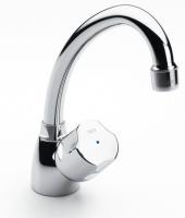 robinet simple monotrou Niagara-N à bec orient. pour lavabo...