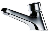robinet lavabo Tempostop à pous. s/gorge bec fixe - chr. - ...