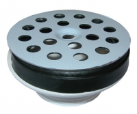 bonde polypropylène - grille inox - Ø 63 - vis centrale - ...