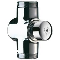 robinet WC Tempochasse applique à poussoir - chromé - 7 s....