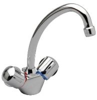 mélangeur lavabo Ulysse à bec tube orientable - chromé...