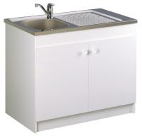 meuble sous-évier 2 portes - largeur : 900 mm