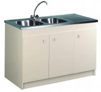 meuble sous-évier 3 portes - largeur : 1200 mm