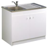 meuble sous-évier 2 portes - largeur : 1200 mm