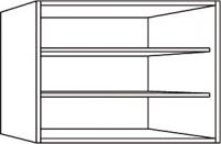 élément haut blanc h. totale 56,4 cm profondeur 32 cm larg...
