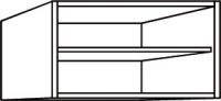 élément haut blanc h. totale 37,7 cm profondeur 32 cm larg...