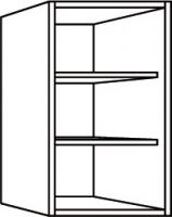 élément haut blanc h. totale 68,4 cm profondeur 32 cm larg...