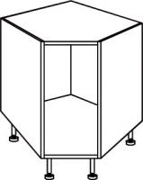 élément angle bas dim. 90x90 cm charnière d'angle inc...