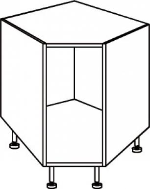 L ment angle bas dim 90x90 cm charni re d 39 angle incluses for Meuble sous evier d angle