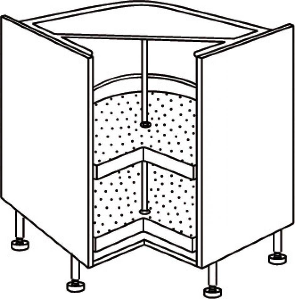 cuisines eviers caissons l ment angle bas dim 90x90 cm charni re d 39 angle incluses dans. Black Bedroom Furniture Sets. Home Design Ideas
