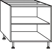 élément bas blanc rangement largeur 120 cm