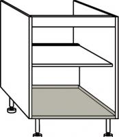 élément bas porte plaque et four largeur 60 cm
