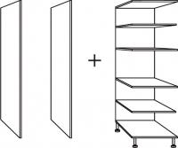 élément armoire four h. totale 236,5 cm profondeur 56 cm l...