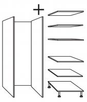 élément armoire rangement h. totale 236,5 cm profondeur 32...