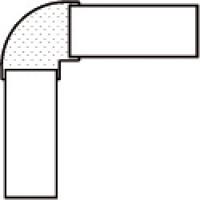 embout de plinthe PVC blanc h. 13,7 cm