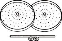 étagère tournante grise pour élément AGB Ø 72 cm 2 piè...