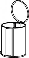poubelle ronde métal volume 13 litres h. 37 cm Ø 27 cm...