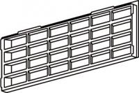 grille de ventilation 39,8 cm pour socle gris