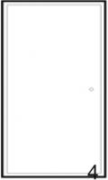 façade 1P MIAMI WHITE blanc h. 96,1 cm largeur 36 cm ...