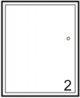 façade 1P MIRAGE blanc brillant h. 56 cm largeur 60 cm �...